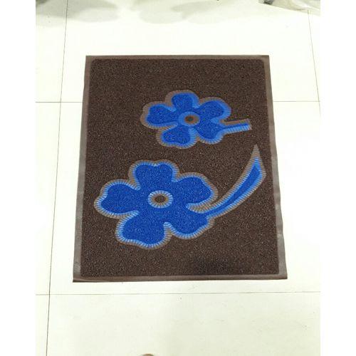 PVC Rubber Mat Size 45*75 Cm Coller - Brown