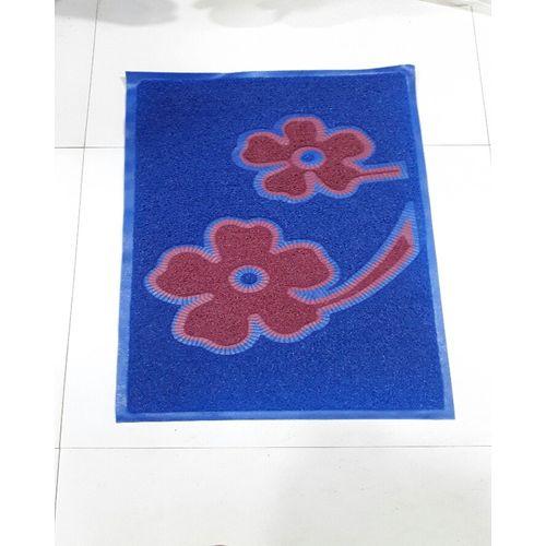 PVC Rubber Mat Size 45*75 Cm Coller - Blue