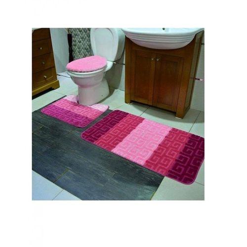 Purple Bathroom Mat Sets: Pink & Purple