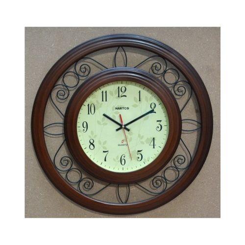 Hartco Clock - Wooden Brown -7771