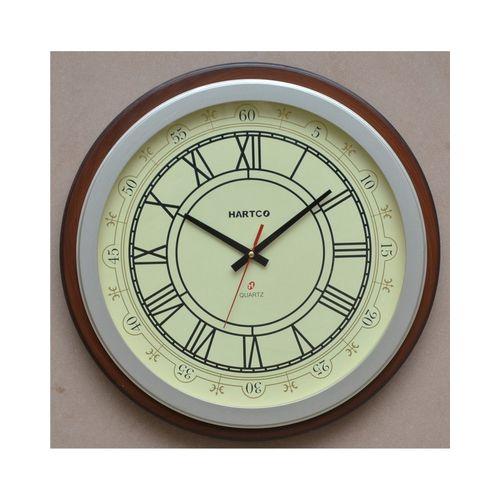 Hartco Clock - Wooden Brown -7775