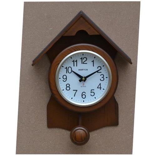 Hartco Clock - Wooden Brown -523