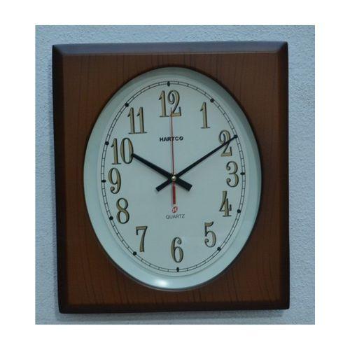 Hartco Clock - Wooden Brown -622
