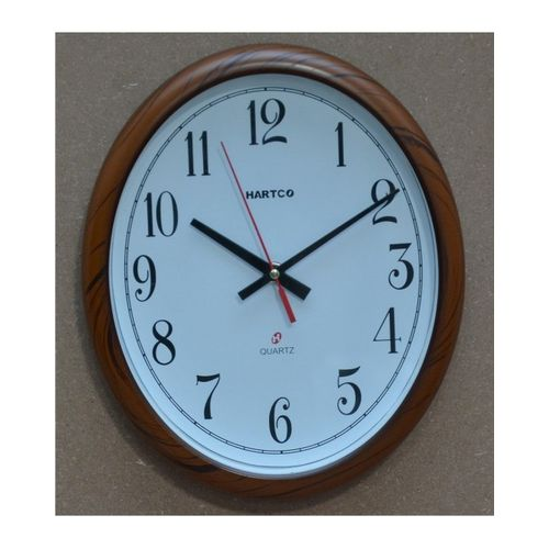 Hartco Clock - Wooden Brown -1175