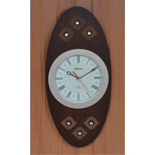 Hartco Clock - Wooden Brown -222