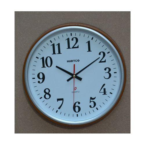 Hartco Clock - Wooden Brown -333