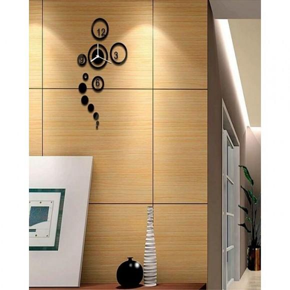 Round Shape Rings Acrylic Wall Clock - SA