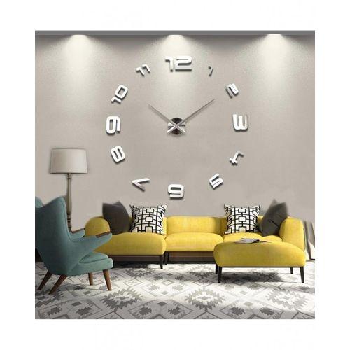 Silent Wall Clock - Silver
