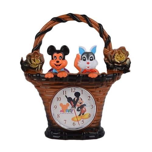 Table Clock for Kids - Brown