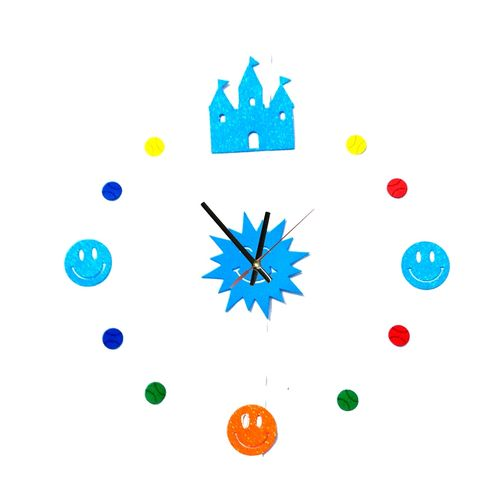3D Wall Clock 2017 Design - Multicolor