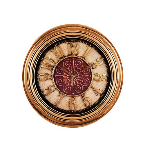 Antique Hollow Wall Clock - Bronze - 14x14""