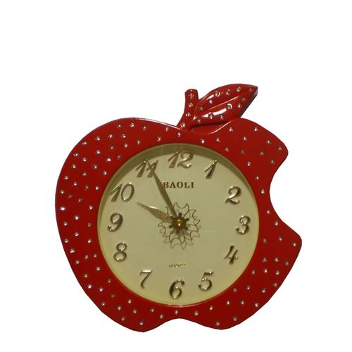 Wall Clock Red Apple Style with clear digits