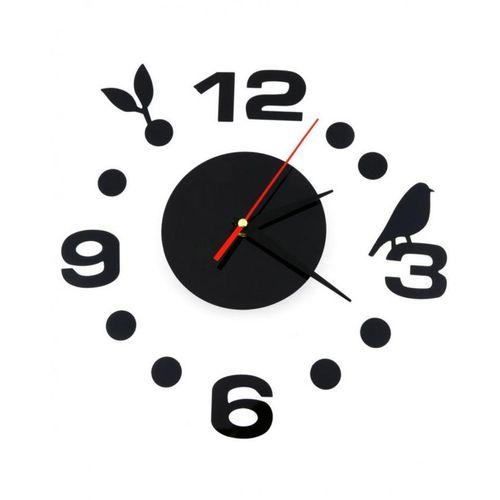 Simple Digits Diy Wall Clock - Black
