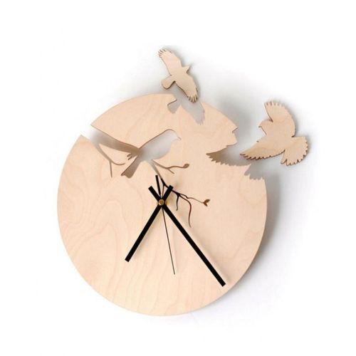 Free Birds Wooden Wall Clock