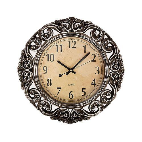 Wall Décor Clock-17x17'' - Sliver