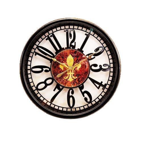 "Black Classic Shiny Vintage Wall Clock - 12 x 12"""