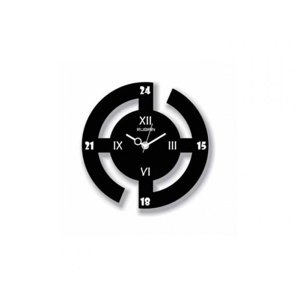 RUBIAN Cut Circle Wallclock - Black