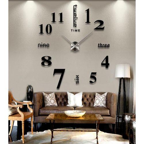 3D Number wall Clock