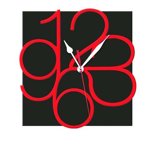 F P - 0100 - Non-Ticking Silent Wall Clock - Black