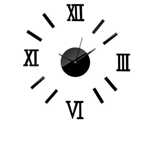 Roman Number Wall Clock - Black