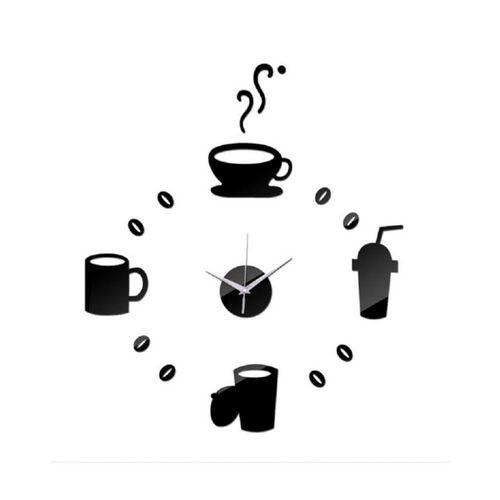 Tea Time Wall Clock - Black