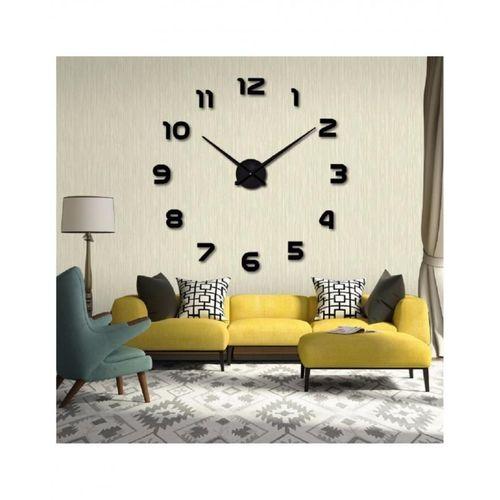 Large Wall Clock - Black