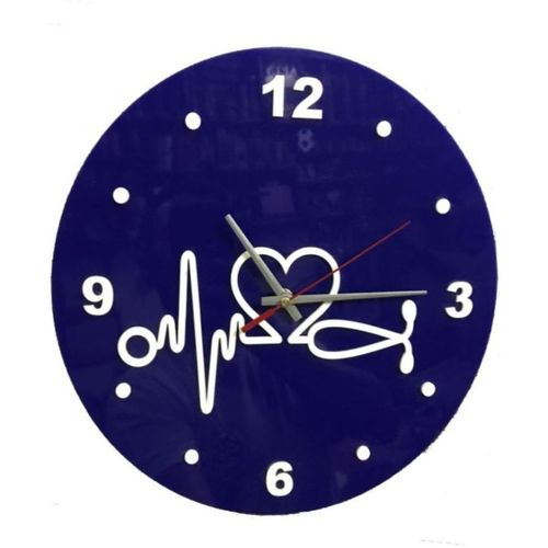 Medical Theme Clock - Blue
