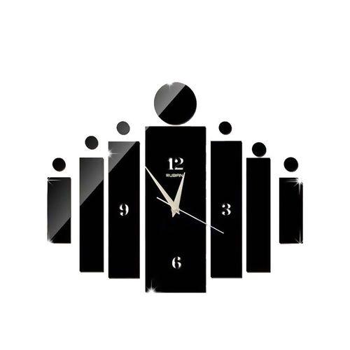 Split Design Wall Clock - Black