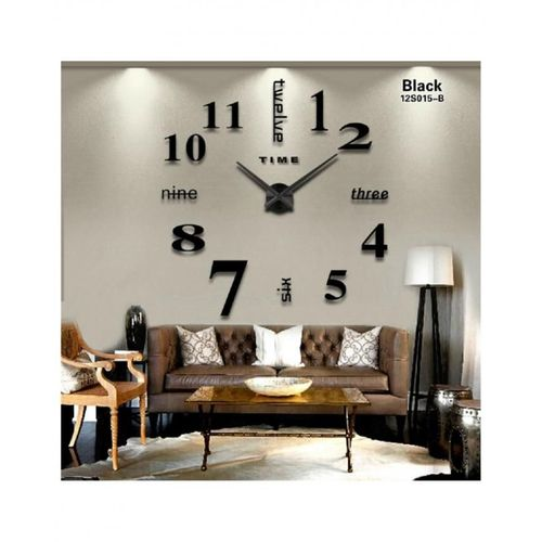 Large Decorative Wall Clock - Black