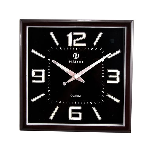 "Black Center Dial Radium Wall Clock 12x12"" - Maroon"