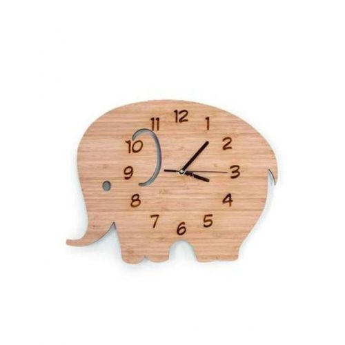 Wooden Elephant Shaped Clock for kids