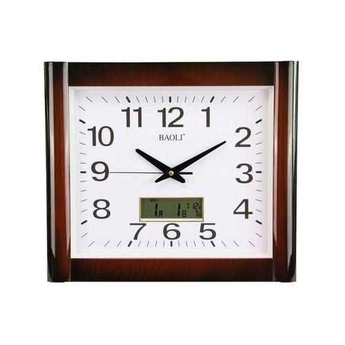 Wall Clock - Maroon & White