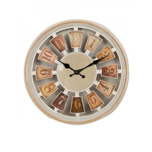 """Gold Shaded Wall Clock - 12x12"""" - White-pr"""
