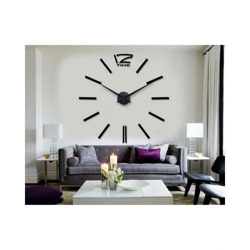 Analog Wall Clock Line - Black