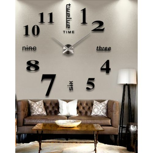 - Numbers Wall Clock - Black