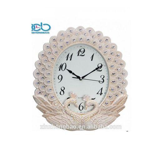 Peacock - Stylish Wall Clock - White