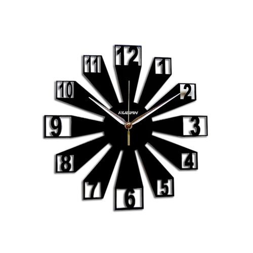 3D Elegant Wallclock - Black