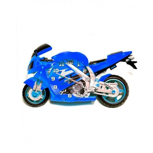 Bike Shaped 3D Clock - Blue