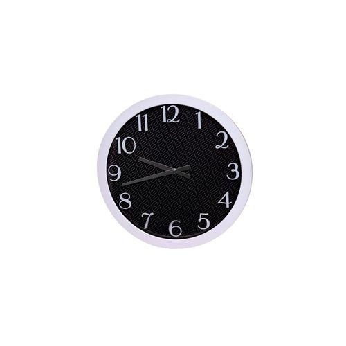 Fabric Texture Black Cobra Wall Clock