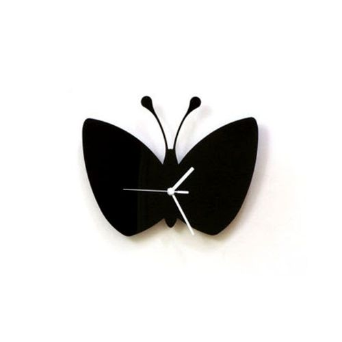 Butterfly Wall Clock - Black