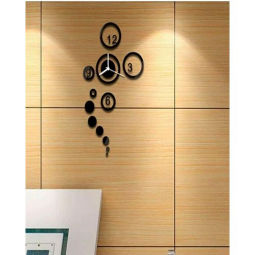 Circles Wall Clock - Black