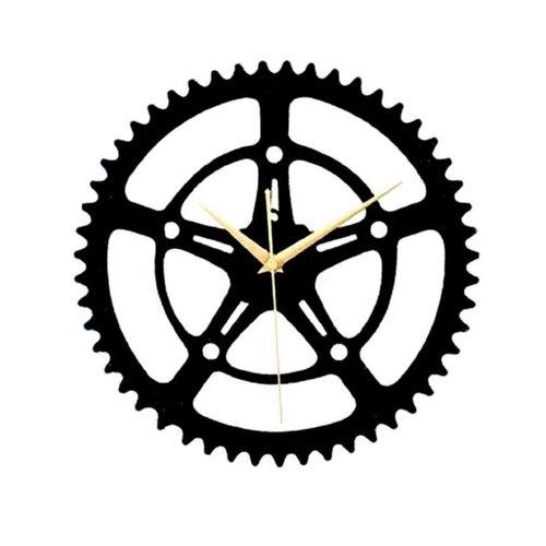 Crankset Design Wall Clock - Black