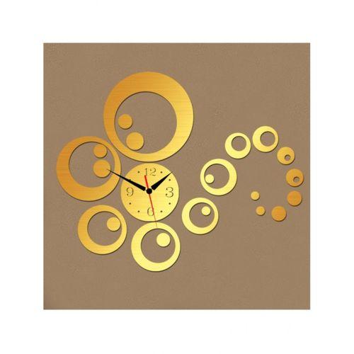 3D Wall Clock - Golden