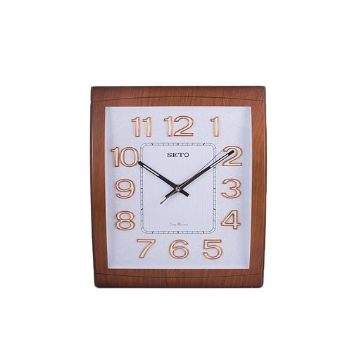 PWC-182A - Structured Floral Patterned White Dial Wall Decor Clock