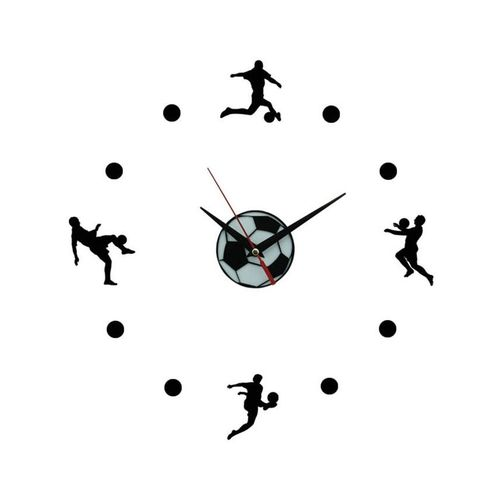 Soccer Fever Wall Clock - Black