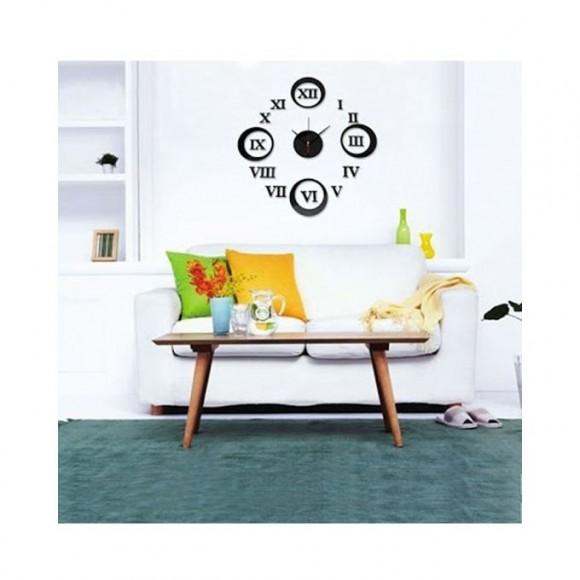3D Wall Clock - Black