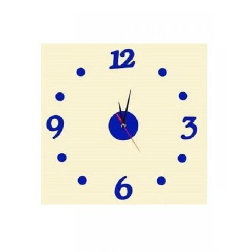 Silent Blue Wall Clock - Blue