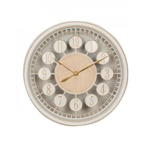 "Golden Borders Wall Clock - 12x12"" - White"