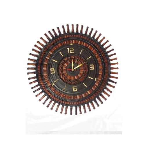 Sheesham Wood X-Large Wall Clock D3 - 18 Inch