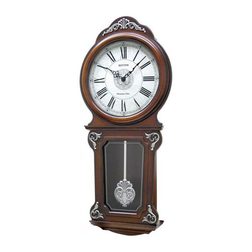 C M J380 C R06 - S I P (Sound In Place) Wall Clock -Japan- Brown